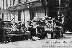 British troops on Moore street