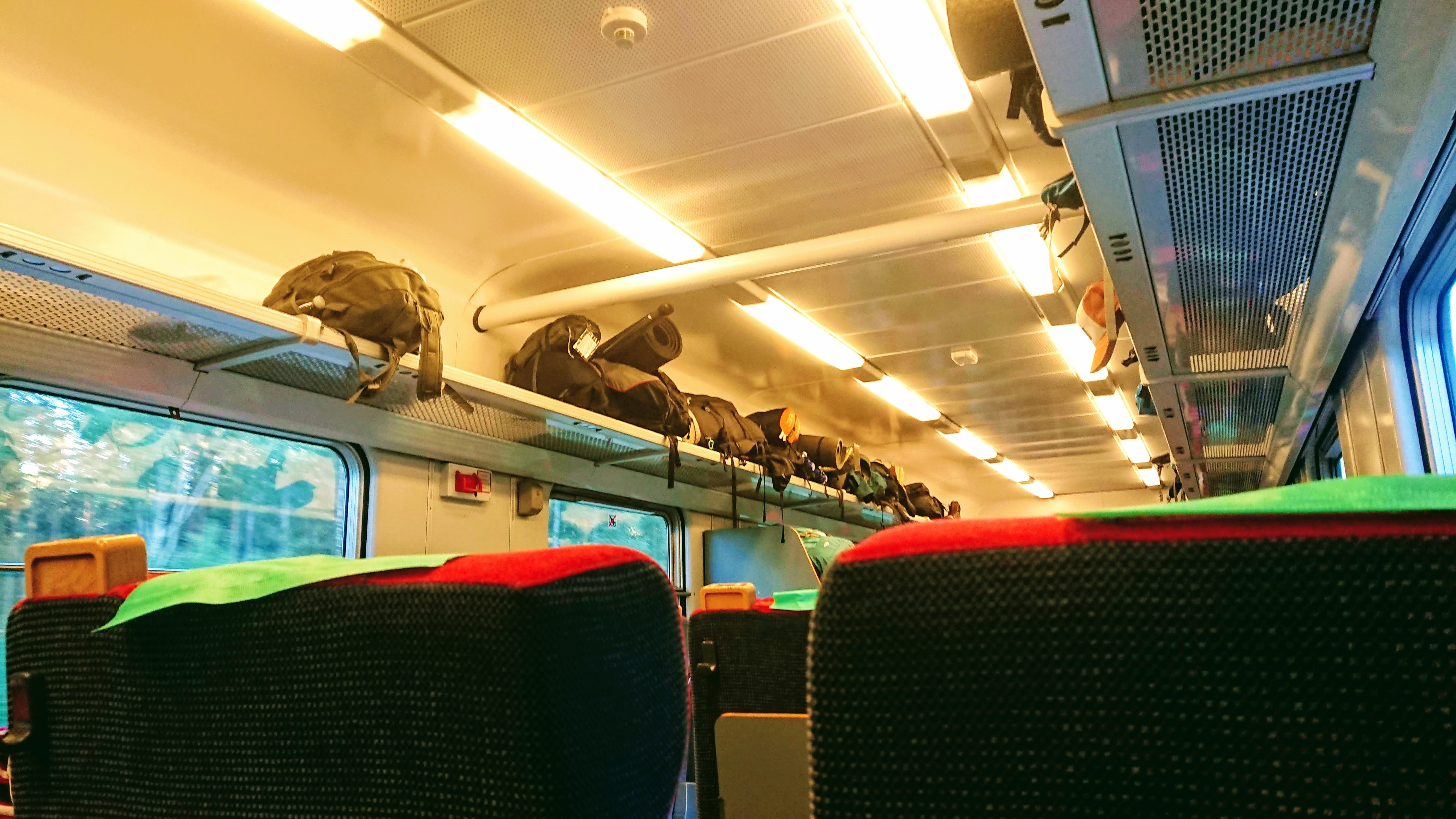 Train full of hikers