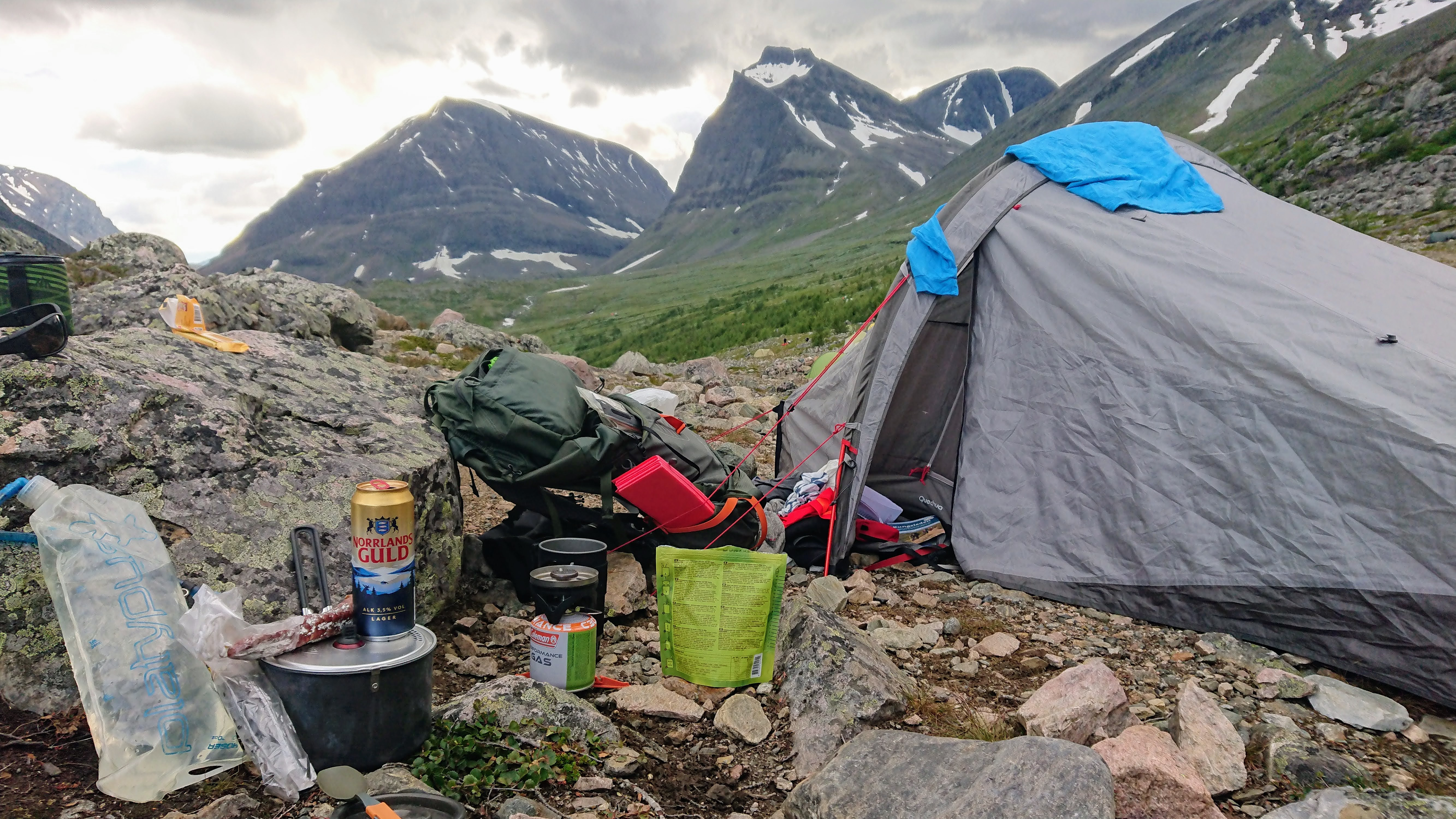 Tent pitch at Kebnekaise station