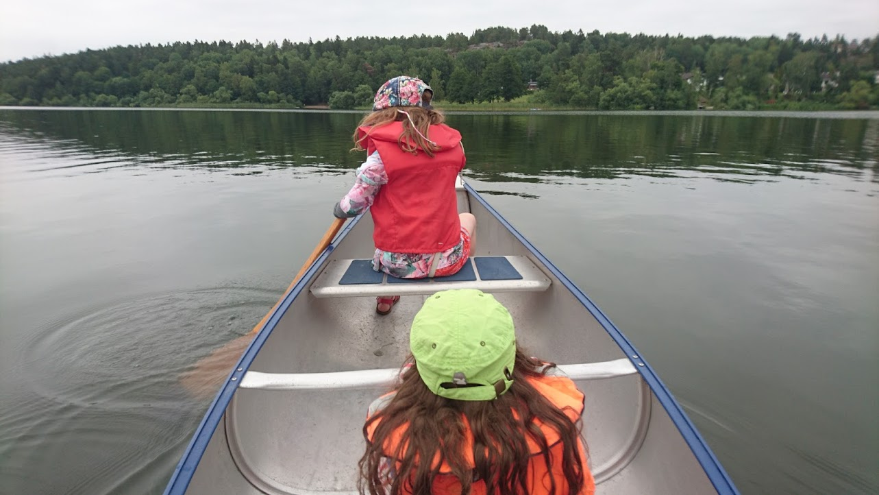First time in a canoe