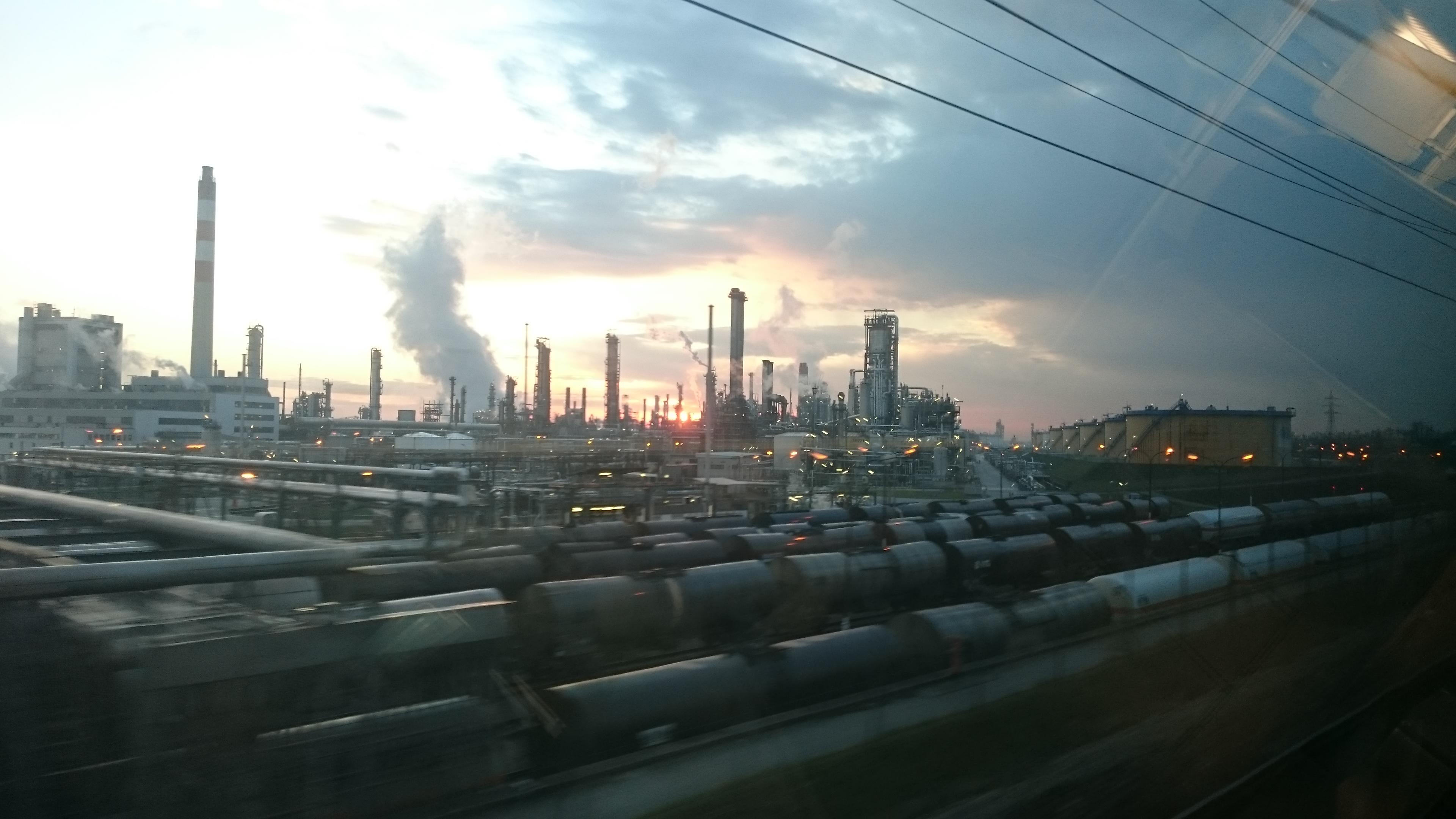 Refinery dawn
