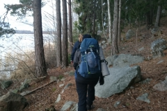 Swedish trail walking