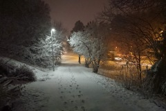First snow in Stockholm